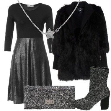 Outfit Sbrilluccichio in argento