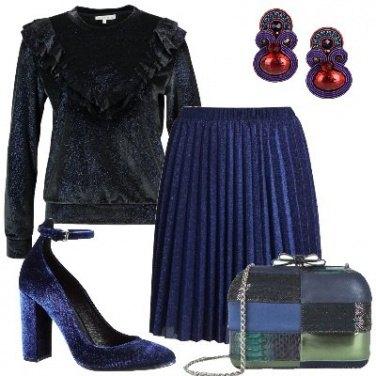 Outfit In glitter blu