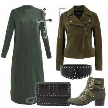 Outfit Rocker in verde