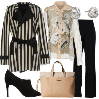 Outfit Il soprabito a righe