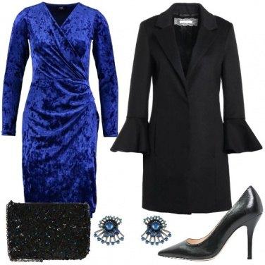 Outfit L\'abito vestaglia in velluto