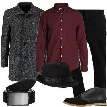 Outfit La camicia bordeaux
