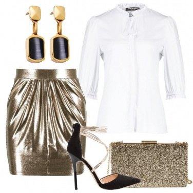 Outfit Di oro vestita
