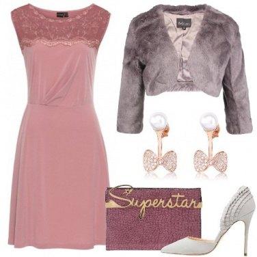 Outfit L\'abito rosa antico