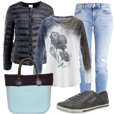 Outfit Azzurro e nero