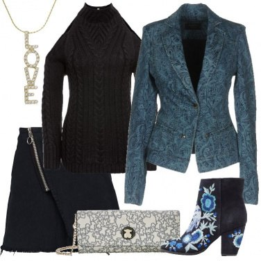 Outfit Blazer e pullover seducente
