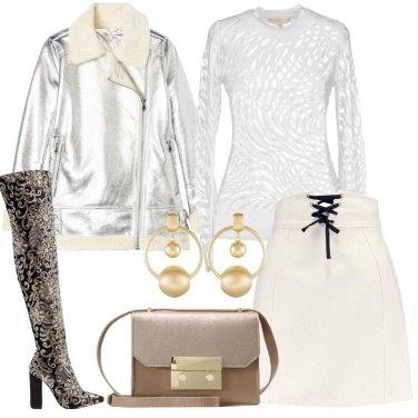 Outfit Bianco silver e oro