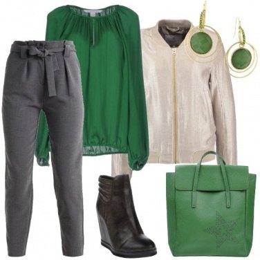 Outfit La maxi borsa verde