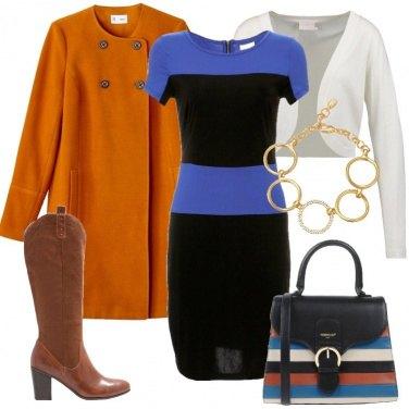 Outfit Il vestito a blocchi di colore