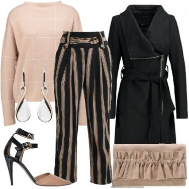 Outfit Mix and match in rosa e nero