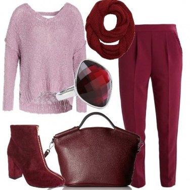 Outfit Il bordeaux per tutti i giorni