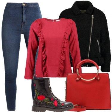 Outfit La camicetta rossa