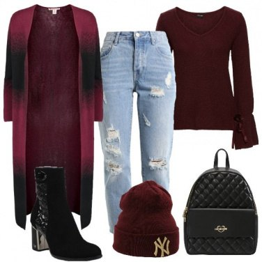 Outfit Cardigan lungo metropolitano