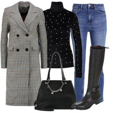 Outfit Cappotto pied-de-poule