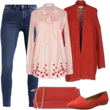 Outfit Il cardigan rosso