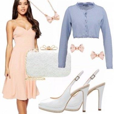 Outfit Cerimonia in rosa quartz&serenity