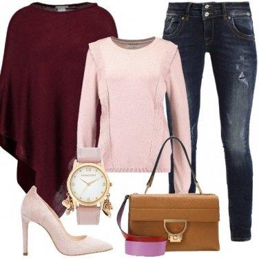Outfit Con un tocco di rosa