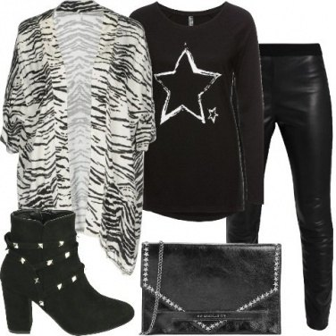 Outfit Il cardigan animalier