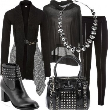 Outfit Rock con il cardigan