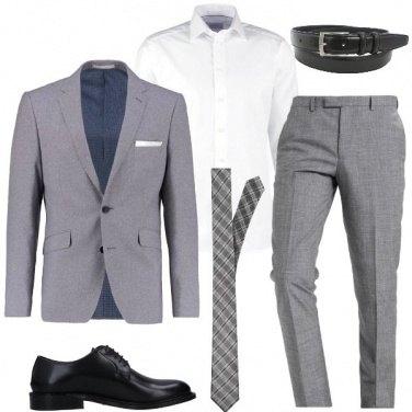 Outfit La cravatta a scacchi