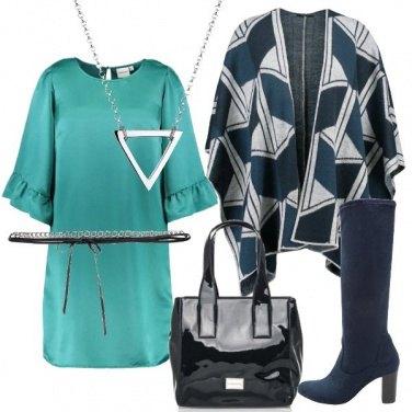 Outfit Turchese e blu