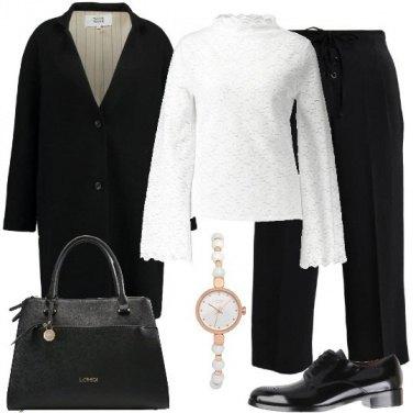 Outfit L\' orologio bianco e rose