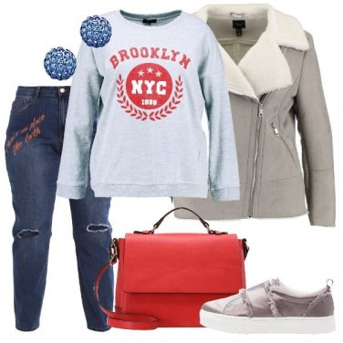 Outfit La giacca grigia