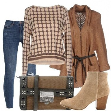 Outfit Pois beige