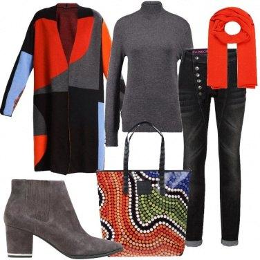 Outfit La borsa stampa mosaico