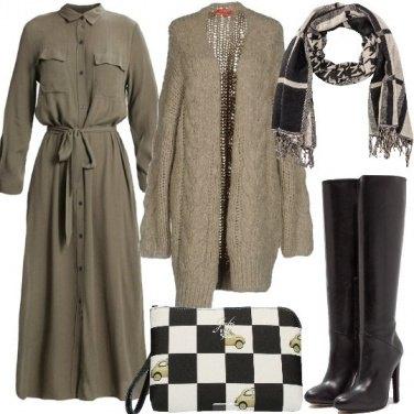 Outfit Un cardigan confortevole