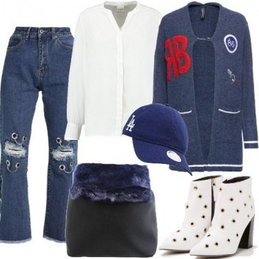 Outfit Stile London collegiale