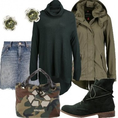 Outfit Borsa camouflage