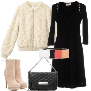Outfit Pelliccia e stivaletti
