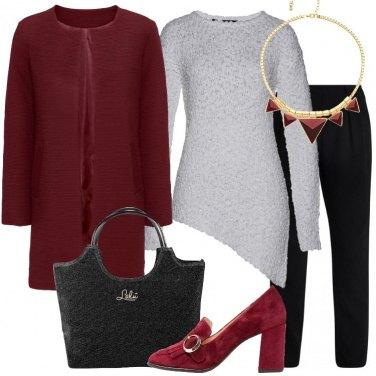 Outfit Il cappotto bordeaux