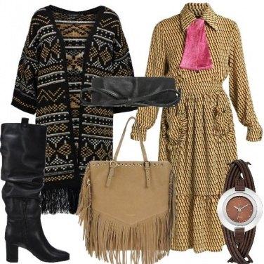 Outfit Contry e fantasie geometriche