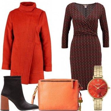 Outfit Di arancio vestita