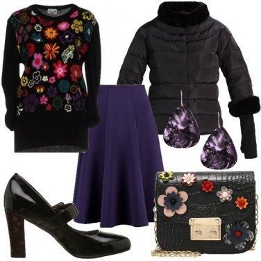 Outfit Il pullover con i fiori