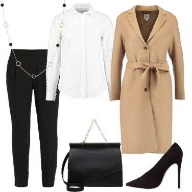 Outfit Il cappotto lungo con cintura