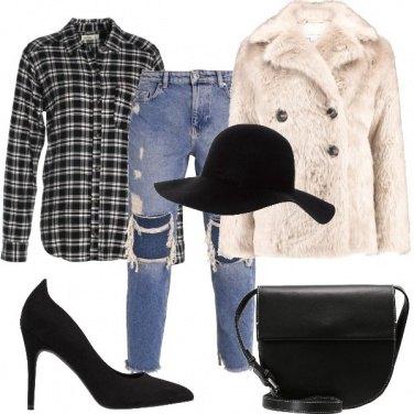 Outfit Pelliccia doppiopetto