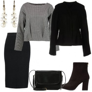 Outfit Tubino e blusa