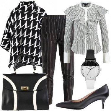 Outfit Bianco e nero chic