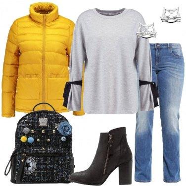 Outfit Il piumino giallo