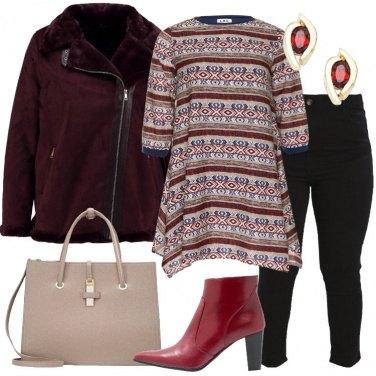 Outfit L\'abito a tunica rigato