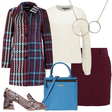 Outfit Il cappotto scozzese