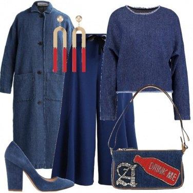 Outfit Denim e maxi orecchini