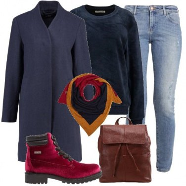 Outfit Un cappotto blu