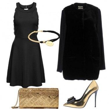 Outfit In oro e nero