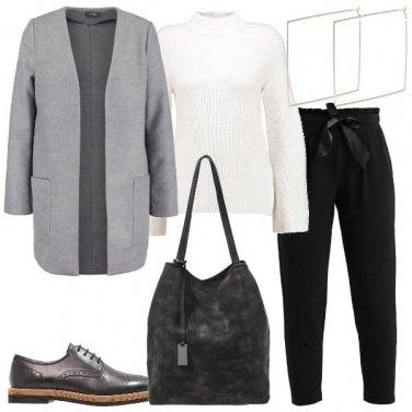 Outfit Il cappottino grigio