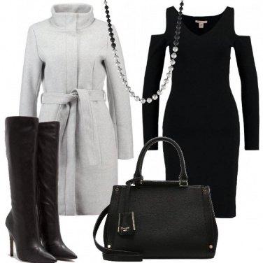 Outfit Nero e grigio