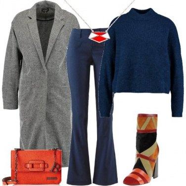 Outfit Il cappotto a spina di pesce